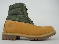 Mens Timberland 6 Inch Premium Puffer A1ZRH Wheat Leather Textile Lace Up Boots