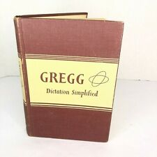 Vintage Gregg Dictation Simplified March 1950 Hardcover Book