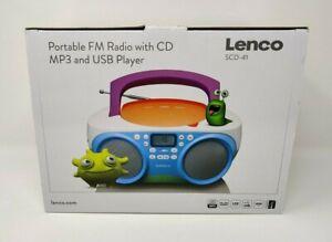 Lenco SCD-41 - Tragbares FM-Radio mit CD/MP3-Player - USB-Anschluß - Kopfhöreran