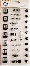 Dates Calendar Teresa Collins Clear Acrylic Stamp Set by Fiskars 104040-1001 NEW