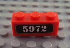 LEGO Red 1x3 Decorated 5972 Harry Potter Hogwarts Express Brick
