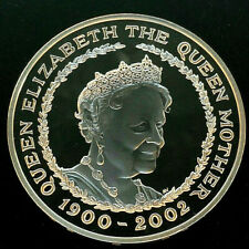 2002 Queen Mother Silver Proof Memorial £5 Commomorative Coin