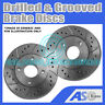 2x Drilled and Grooved 3 Stud 280mm Solid OE Quality Brake Discs(Pair) D_G_2026