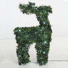 Rentier 82 cm beleuchtet Buchsbaum Figur 100 LED Deko Weihnachten außen Garten