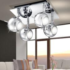 Retro Decken Kugel Spot Lampe Strahler beweglich Leuchte Wohn Ess Zimmer Chrom