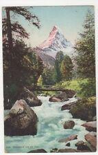 Switzerland, Matterhorn und die Visp 1907 Postcard, B203