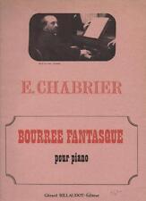 Emmanuel CHABRIER Bourrée Fantasque pour piano