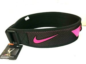 Nike Women's Intensity Training Belt, Size M, Black/Pink - 9U_78