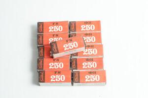 5 rolls 120 black and white film Svema Foto250 (FN250). Medium format roll film