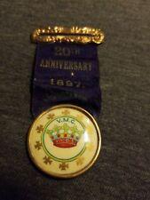 1897 Ribbon VMC Royal Arcanum Fraternal 1105 Grand Council of Dover, NH