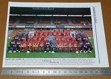 CLIPPING POSTER FOOTBALL 1999-2000 RC LENS RCL BOLLAERT SANG & OR