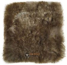 British Lambskin Pad Seat Cushion Gray Brown 37 x 37 cm Lambskin Pad