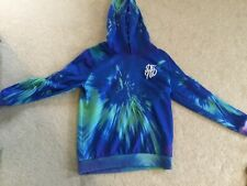 boys bright blue and green DFND hoody aged 13 years