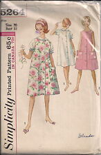 Vintage Nightgown & Duster or Sleeveless Dress Sewing Pattern S5264 Size 10