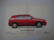 advertising Pubblicità 1994 VOLKSWAGEN GOLF GTD