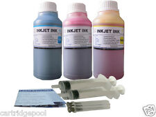 3x10oz Refill ink for HP 21/22 56/57 74/75 60 61 901 564 920  3Syringes 3x250ml