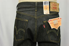 "NWT LEVI'S 501-0226 INDIGO BLACK RIGID JEANS ""SHRINK TO FIT"" LEVIS JEAN SZ:33x32"
