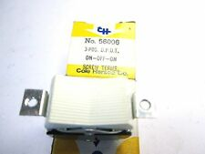 56006 COLE HERSEE ROCKER SWITCH  3 POSITION D.P.D.T ON-OFF-ON NEW OLD  VINTAGE