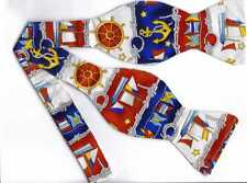 Nautical Bow tie - Signal Flags, Ropes, Anchors & Ships / Self-tie Bow tie
