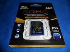 MEMORY CARD - 16 GB SDHC - HIGH PERFORMANCE - CLASS 10 - TEAM INTERNATIONAL