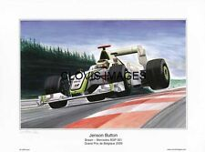 POSTER ARTWORK PRINT / DESSINS F1 JENSON BUTTON BRAWN GP 2009 by CLOVIS