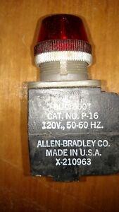 Allen Bradley 800T-P16 Red Pilot Light 120 Volt