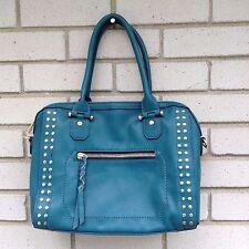 Street Level Elisia Handbag Stitch Fix Teal Green Faux Leather Satchel Bag FLAW