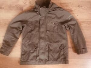 Boys  Khaki Military H&M Zip / stud fasten Jacket 8/9 Years