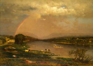 George Inness Delaware Water Gap Poster Reproduction Giclee Canvas Print