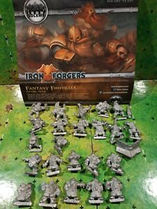 Blood Bowl équipe de nain iron forgers iron golems