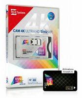 Cam tivusat 4k Ultra HD Nuovo Modulo Cam Tv sat 4k con smart card Nera