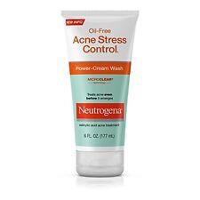 NEW Neutrogena Oil Free Acne Stress Control Power Cream Wash 6 Fl. Oz.Pack of 3
