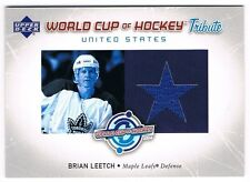 2004-05 UPPER DECK WORLD CUP TRIBUTE JERSEY #WC-BL BRIAN LEETCH !!