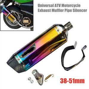 38-51mm Universal ATV Motorcycle Exhaust Muffler Pipe Silencer Stainless Steel