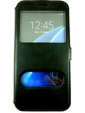 Etui Housse Coque Pochette View Case Noir Black pour Samsung Galaxy S7 Edge