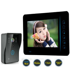 "Wireless 7"" LCD Rainproof Video Doorbell Intercom System IR-CUT Camera 1-Monitor"