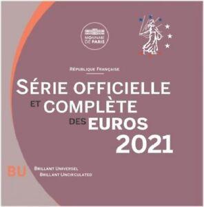 Coffret BU Euros France 2021 8 pièces - Coffret Officiel sous Blister