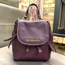 a56bb47a8899 Michael Kors Riley Small Flap Pack Xbody Drawstring Backpack Style Bag  Damson