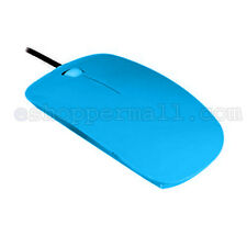 Light Blue USB Optical Wired Scroll Wheel Mouse Mice for Laptop Notebook Desktop