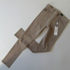 NWT Ag Adriano Goldschmied Legging Ankle in Coyote Suede Leather Skinny Pants 27