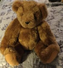 "Vintage 15"" Vermont Teddy Bear Fully Jointed Tan Plush Stuffed Animal Aug 2009"