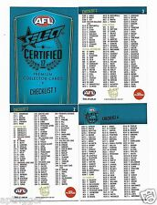 2017 Select Certified CHECK LISTS (4 Cards)