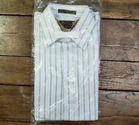 Vtg 1980's Montgomery Ward Dress Shirt High Court Broadcloth Medium 15 1/2 LS