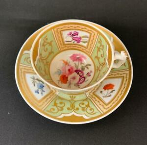BEAUTIFUL VICTORIAN FLORAL CUP AND SAUCER AS IS