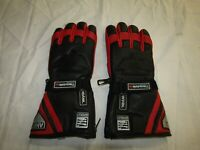 AKITO MERCURY PLUS THINSULATE BLACK / RED MOTORCYCLE GLOVES