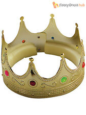 Royal Gold Crown King Queen Wiseman Christmas Nativity Fancy Dress Accessory