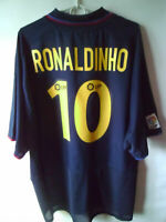 VERY RARE! RONALDINHO!!! 2002-04 Barcelona Away Shirt Trikot XL