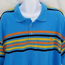 Men's Casual Shirt BX Est. 1970 Size 4X Polo Rugby Teal Stripes XXXXL
