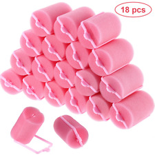 18 Pieces Sponge Hair Rollers 40 mm Soft Foam Hair Styling Curlers Large Size 40
