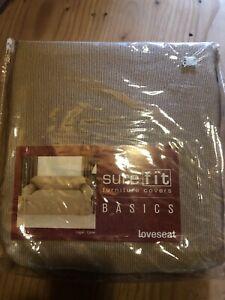 SUREFIT Basics Loveseat Slipcover Carmel Beige Sure fit